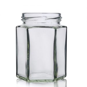190ml Hexagonal Glass Jar
