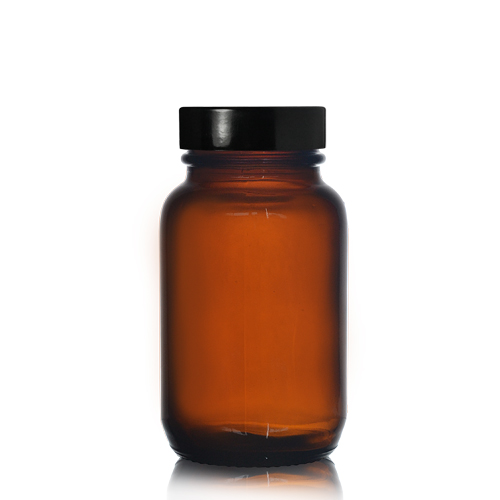 100ml Amber Pharmapac Jar with Screw Cap