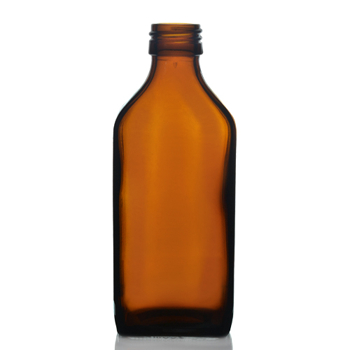 200ml Amber Rectangular Glass Bottle