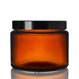 500ml Amber Ointment Jar with Screw Cap
