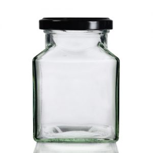 200ml Square Jar with Twist Lid