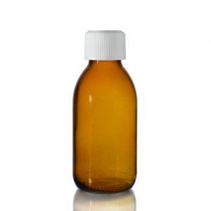125ml AmberSirop Bottle with Medilock Cap