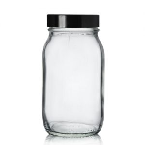 175ml Pharmapac Jar with Black Screw Cap
