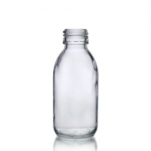 125ml Clear Glass Sirop Bottle