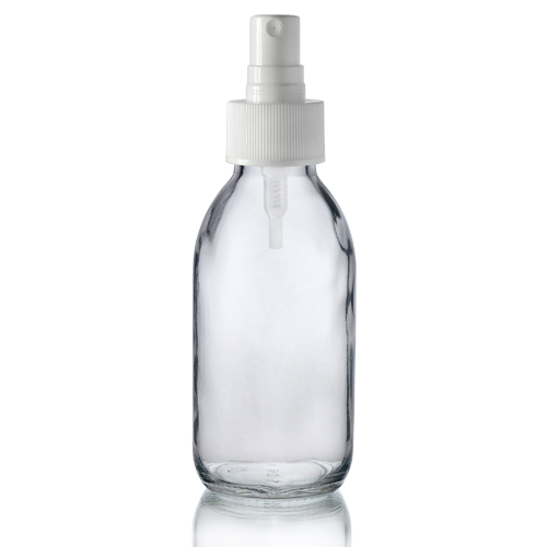 125ml Clear Glass Bottle With Spray