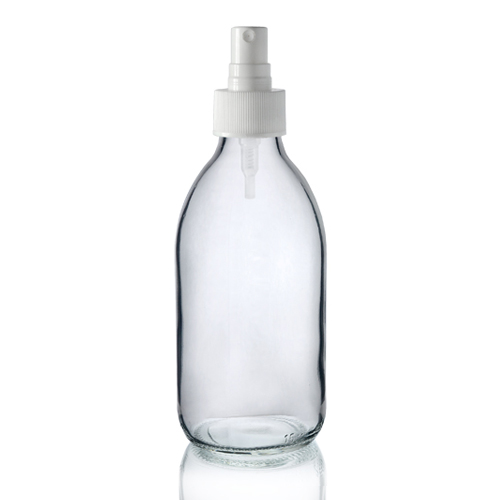 250ml Clear Glass Bottle With Spray