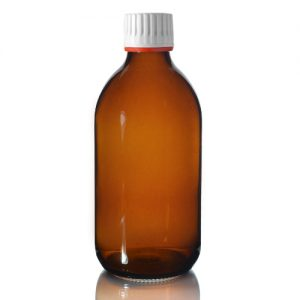 300ml Amber Sirop Bottle with Tamper Evident Cap