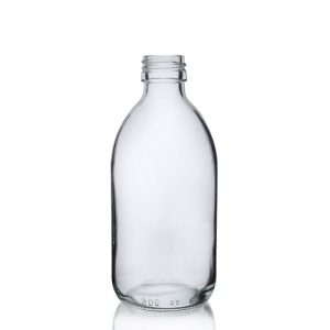 300ml Clear Glass Medicine Bottle