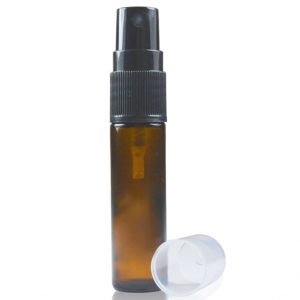 10ml Amber Glass Roller Bottle With Spray