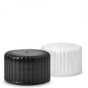 24mm black and white plastic screw caps