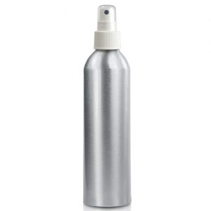 300ml Aluminium Bottle with white spray