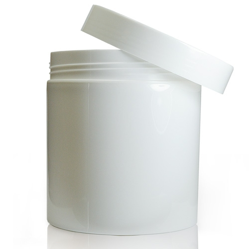 500ml White plastic cosmetic jar