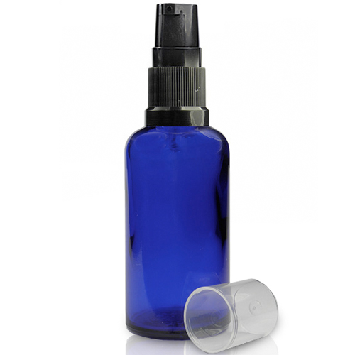 50ml Blue Dropper Bottle With Lotion Pump