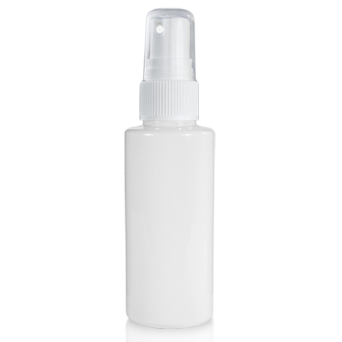 50ml White Glossy Bottle Natural Atomiser Spray