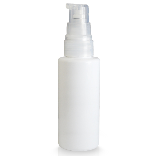 50ml White Plastic Bottle With Lotion Pump