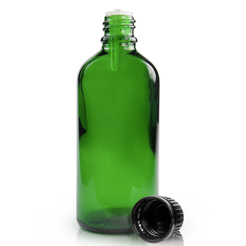 100ml Green Glass Dropper Bottle With Dropper Cap