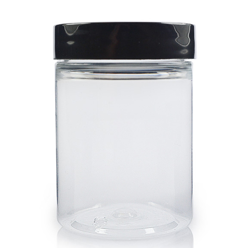 100ml Cylindrical Jar w Black Cap