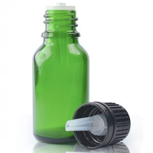 15ml Green Glass Dropper Bottle And Dropper Cap