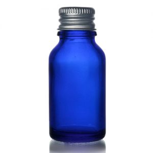 15ml Blue Glass Dropper Bottle With Metal Cap