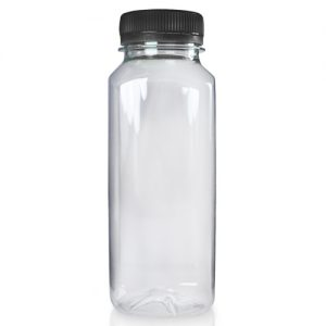 250ml Square plastic juice bottle