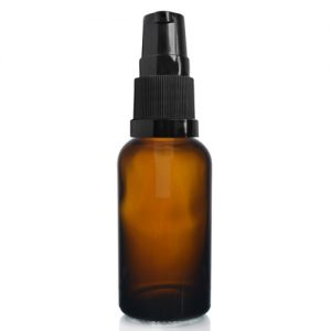 30ml Amber Glass Dropper Bottle With Lotion Pump