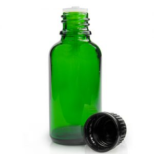 30ml Green Glass Dropper Bottle And Dropper Cap