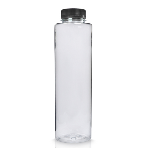 500ml Slim Plastic Juice Bottle with Black Cap