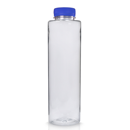 500ml Slim Plastic Juice Bottle with Blue Cap