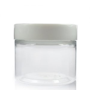 50ml Cylindrical Jar w White Cap