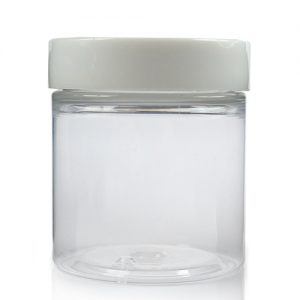 75ml Cylindrical Jar w White Cap