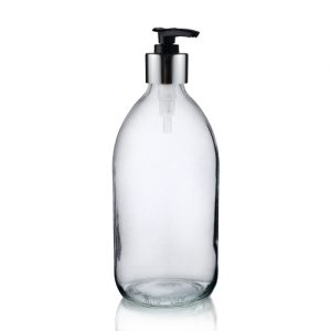 500ml Clear Sirop Bottle Lotion BS