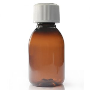 100ml Amber Bottle With Child Resistant Cap