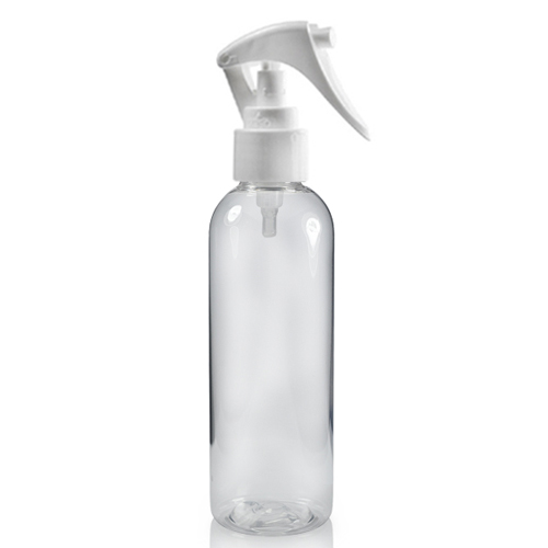 100ml Tall Boston Bottle with White Mini Trigger
