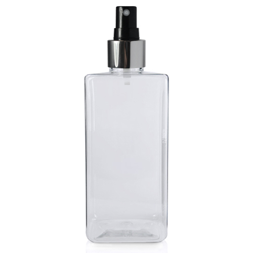 200ml Short Square PET Bottle with BS Atomiser