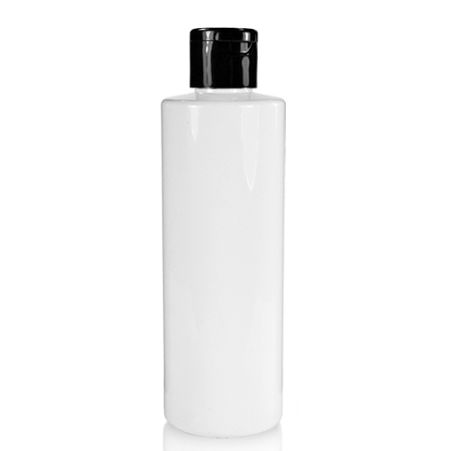 250ml Glossy White Plastic Bottle And Flip Top Cap