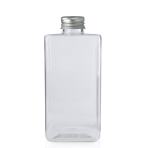 300ml Short Square PET Bottle with Aluminium Cap