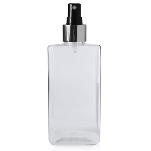 300ml Short Square PET Bottle with BS Atomiser