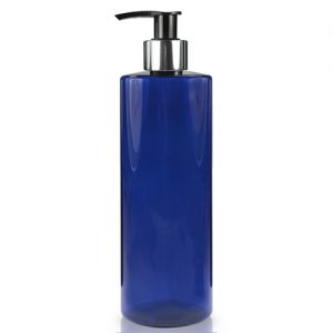500ml Blue Plastic Bottle With Glossy Pump