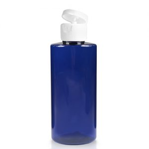 50ml Blue Plastic Bottle With Flip-Top Cap