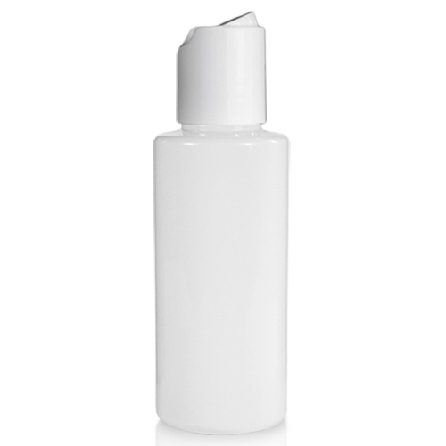 50ml White Plastic Bottle With Disc Top Cap