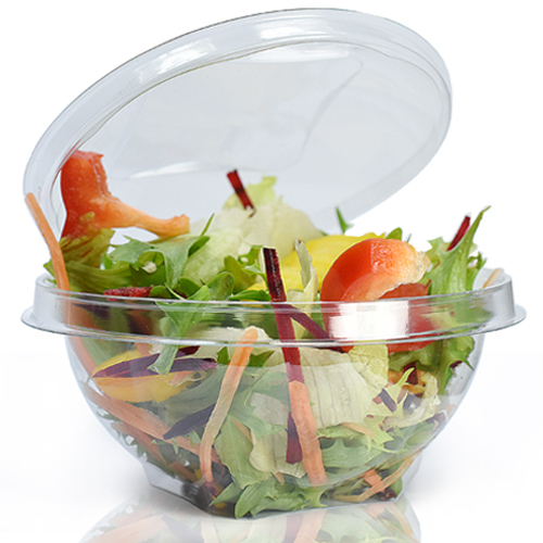 500cc Clear Salad Bowl With Lid