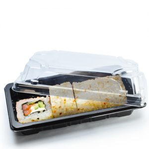 small sushi tray filled