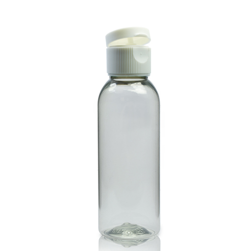 50ml rPET Boston Bottle With Flip Top Cap