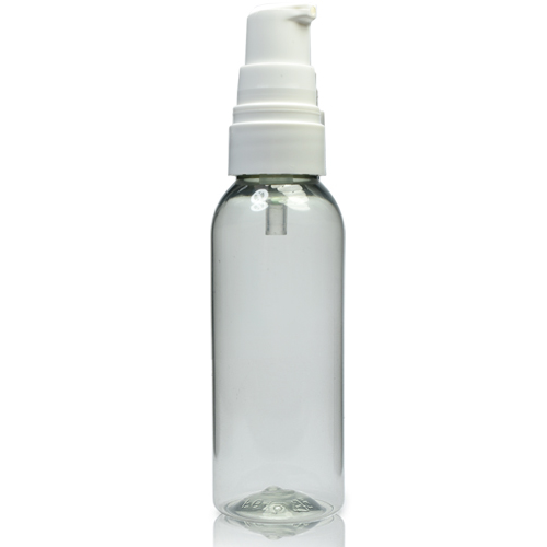 50ml rPET Boston Bottle With Lotion Pump