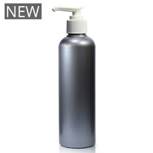 250ml Silver Plastic Bottle With Pump