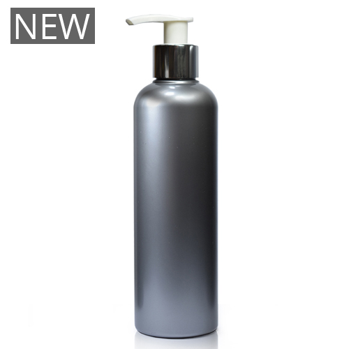 250ml Silver Plastic Bottle With Premium Pump