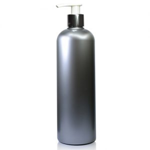 500ml Silver Plastic Bottle With Premium Pump