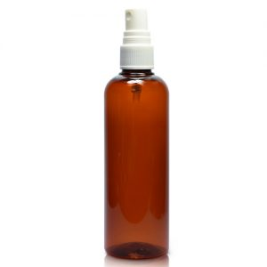 150ml Amber Plastic Bottle With spray